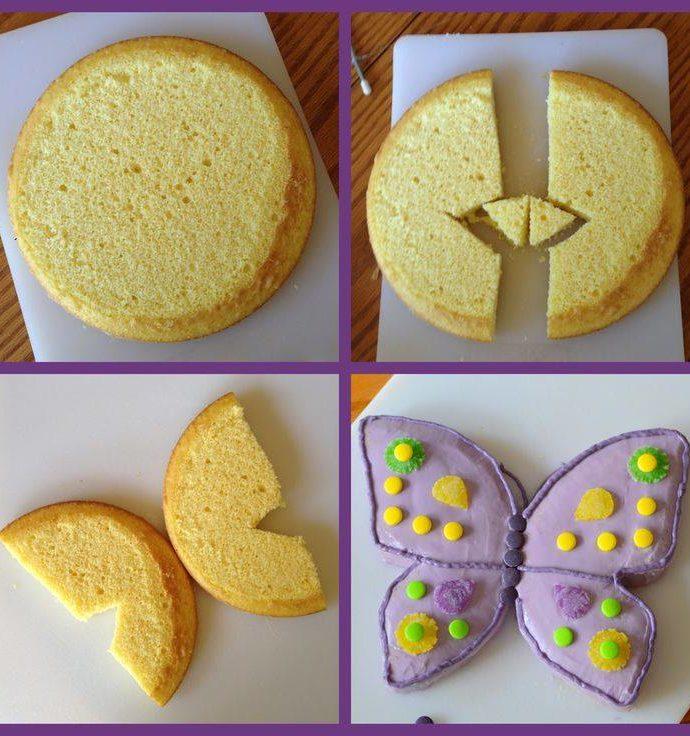 Πώς φτιάχνω τούρτα-πεταλούδα