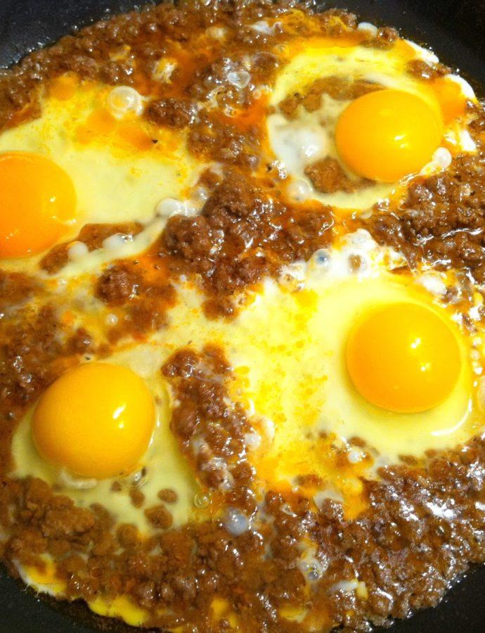 Αυγά με κιμά