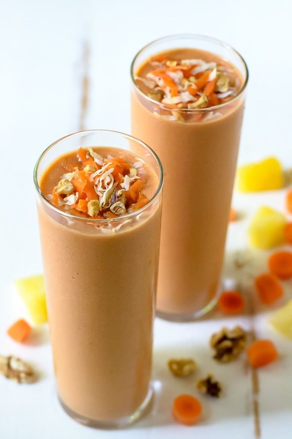 Υγιεινό smoothie με καρότο