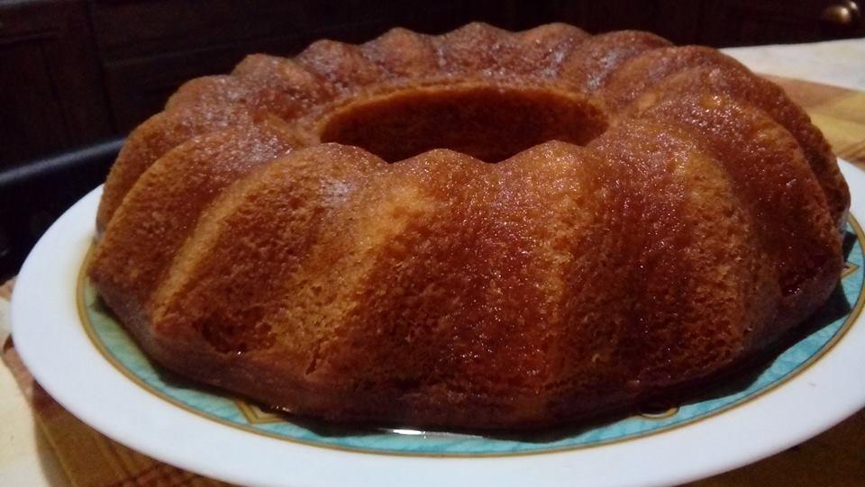 Κέικ λεμονιού με σιρόπι λεμονιού, χωρίς μίξερ