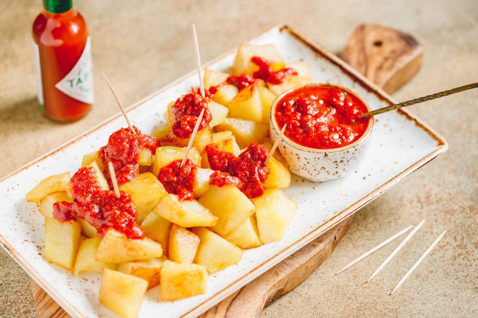 Patatas Bravas (πατάτες Ισπανικές)