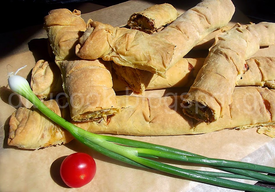 Κρουστάρια (Πρασόπιτα Πηλίου με λαχανικά)