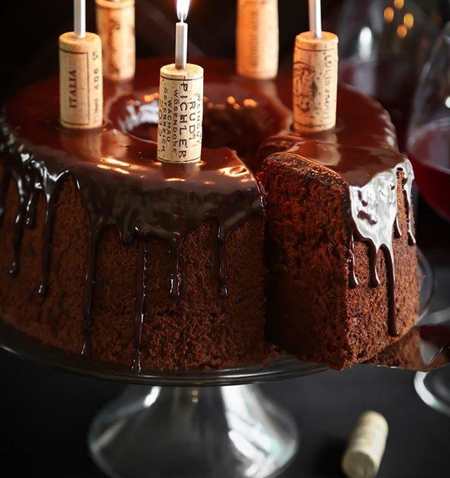 Κέικ με κρασί κόκκινο