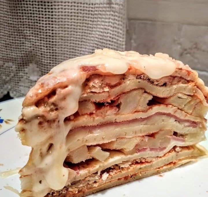 Αλμυρή τούρτα με κρέπες