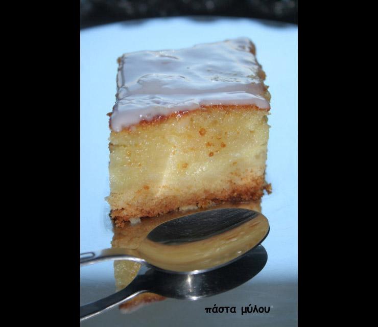 Πάστα Μύλου – γλυκό με γλάσο βανίλιας (σπεσιαλιτέ Κυθήρων)