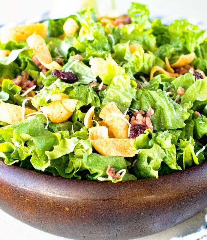 Μαρούλι σαλάτα με λαδολέμονο μουστάρδας