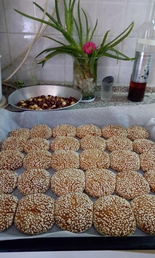 Μπισκότα με μέλι, ταχίνι και φυστικοβούτυρο