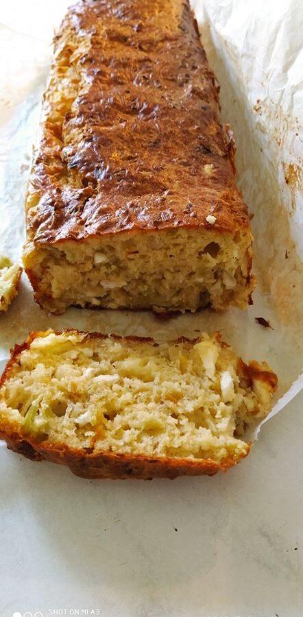 Αλμυρό κέικ με τυριά και πράσο