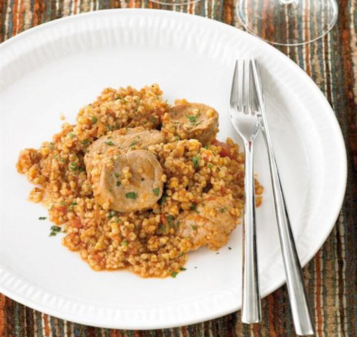 Λακάνη ή Χόντρος (κρέας με σιτάρι) σπεσιαλιτέ Ρόδου