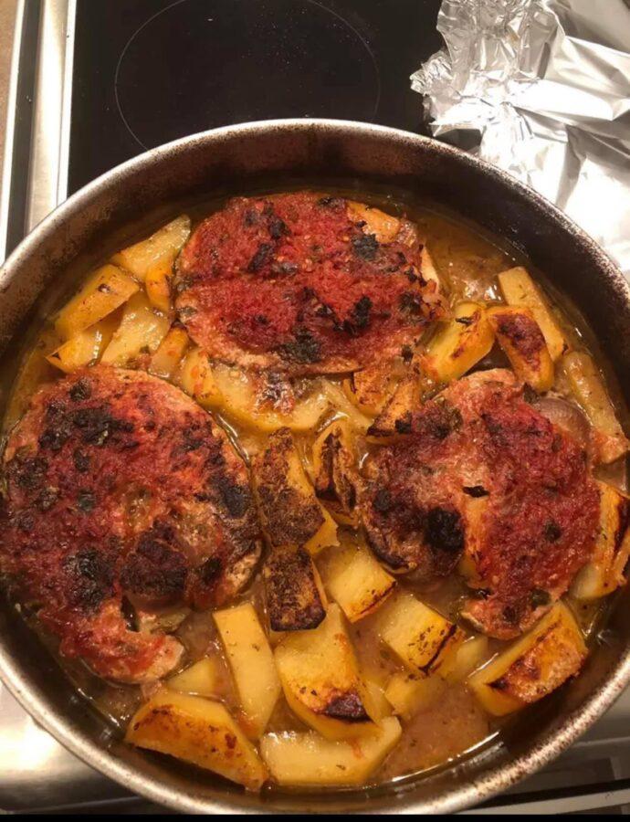 Ξιφίας φούρνου με πατάτες