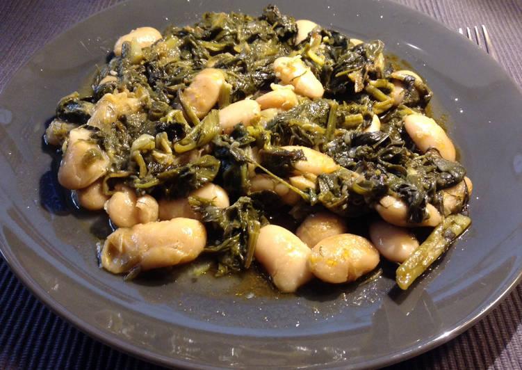 Γίγαντες φασόλια με χόρτα (Ζαγοροχώρια) νηστίσιμη συνταγή