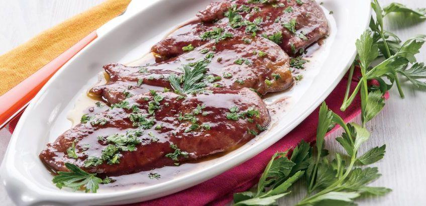 Σκαλοπίνια με σάλτσα μαρσάλα