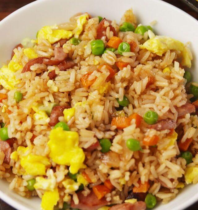 Ρύζι με λουκάνικα (εύκολη συνταγή για παιδιά)