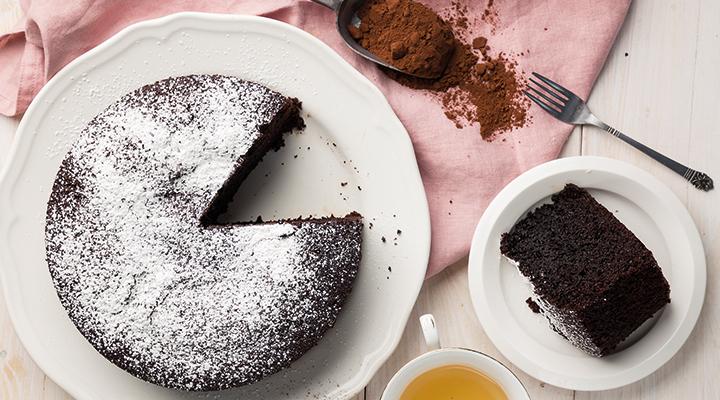 Κέικ σοκολάτας με αλεύρι ολικής άλεσης