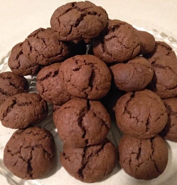 Αφράτα, μαλακά μπισκότα (cookies) με κακάο