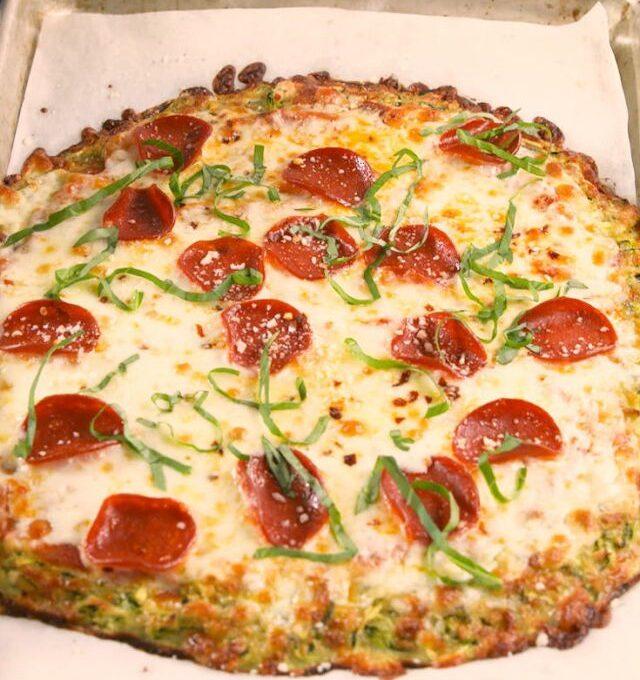 Πίτσα με βάση από κολοκύθι (χωρίς γλουτένη)