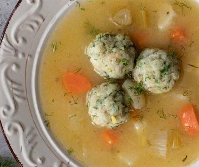 Γιουβαρλάκια μπακαλιάρου σούπα