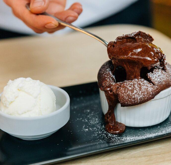 Σουφλέ σοκολάτας με γλυκοπατάτα